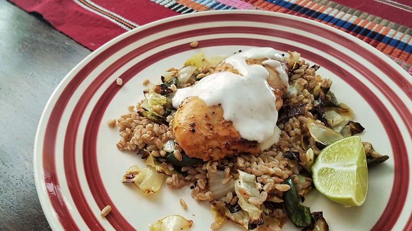 blue apron Tandoori-Style Roasted Chicken