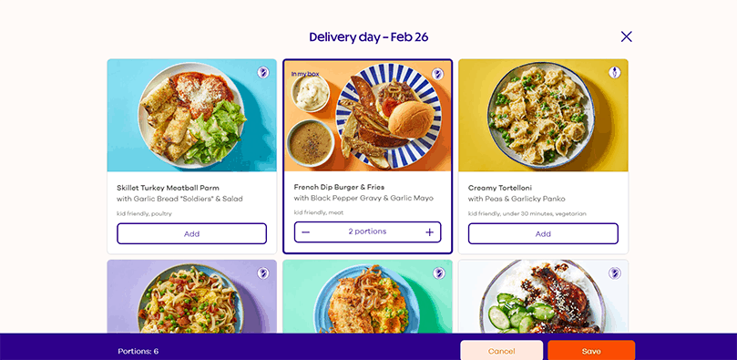 dinnerly ordering online