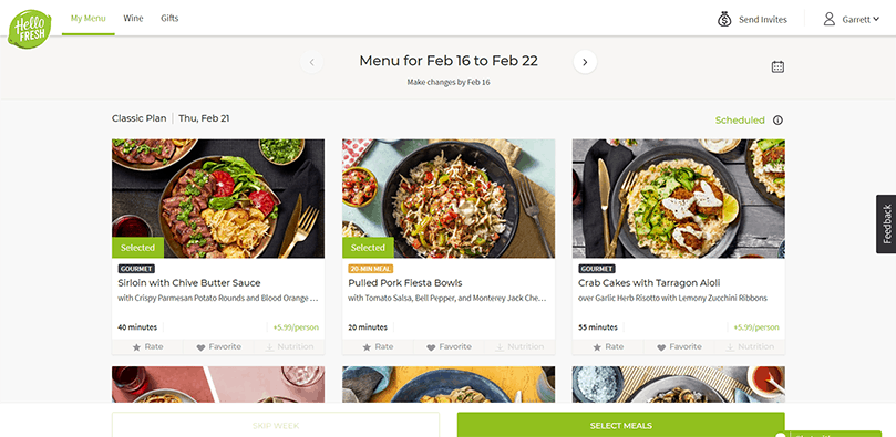 hellofresh online ordering