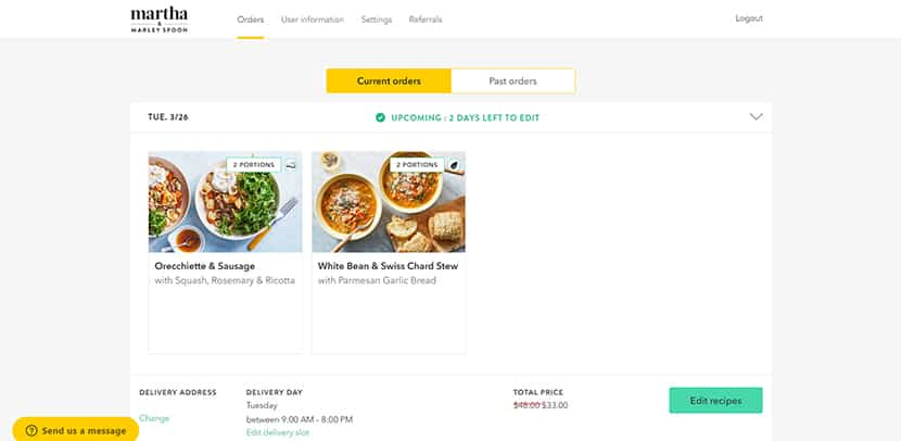 Marley Spoon meal review