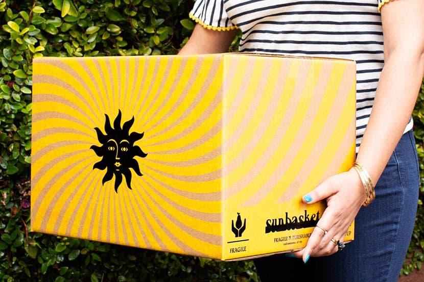 holding sunbasket box