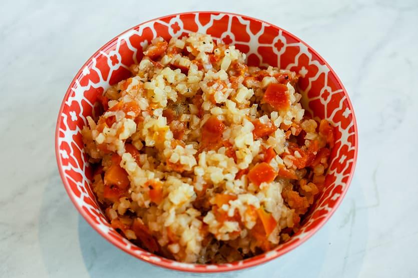 Carb Swap Cauliflower Rice freshly